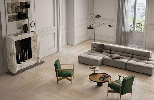 mẫu gạch lát nền phòng khách đẹp 2