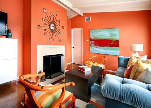 Lời khuyên trong việc chọn màu sơn tường phòng khách theo phong thủy
