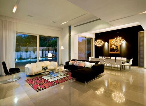 Tham khảo một số  ý tưởng phối màu gạch ốp tường phòng khách ấn tượng