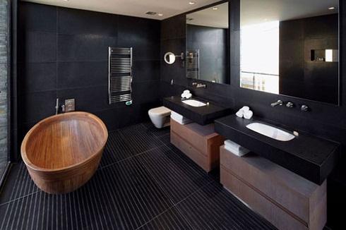 Tuyệt chiêu sử dụng gạch ốp tường màu đen Độc đáo – Ấn tượng nhất