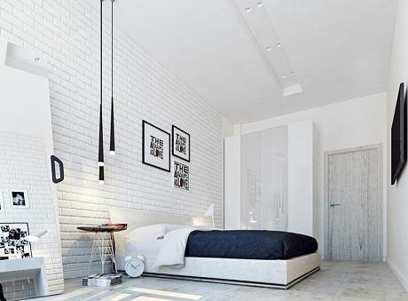 gạch ốp tường màu trắng