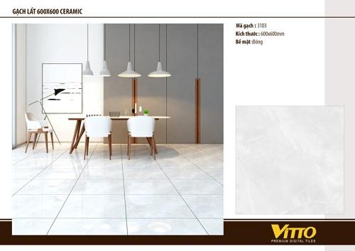 Cách chọn kích thước gạch lát nền Vitto phù hợp Chất lượng cho gia đình