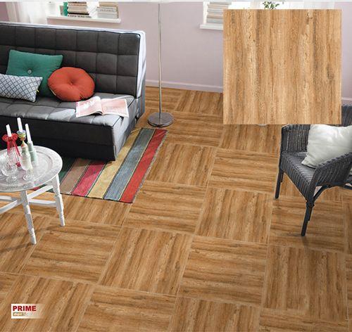 Gạch lát nền Prime giả gỗ ấn tượng cho phòng khách