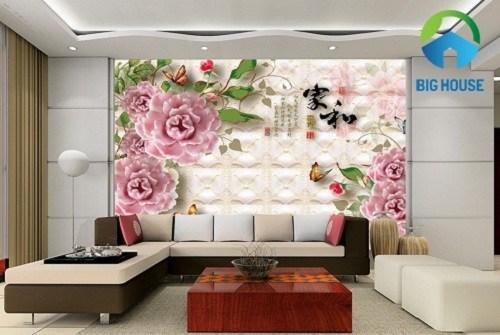 Gạch ốp tường phòng khách 3D – Xu hướng mới của năm 2018