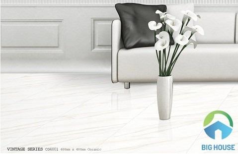 gạch bạch mã 40x40 màu trắng