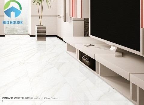 gạch bạch mã 40x40 màu trắng chất lượng cao