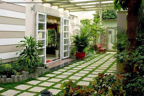 Cách dùng gạch lát sân vườn Hiệu quả đem lại sự khác biệt vượt trội