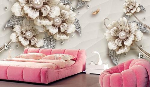 Mẫu gạch ốp tường phòng ngủ 3D Đẹp được ưa chuộng nhất 2019