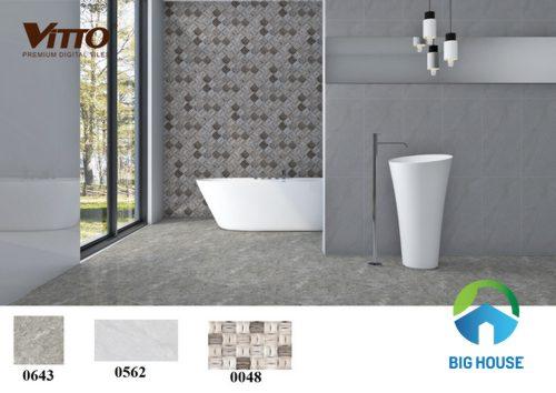 Tổng hợp mẫu phối cảnh gạch ốp nhà vệ sinh Vitto bạn nên tham khảo