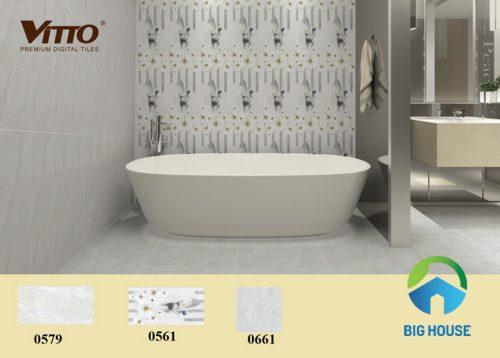 Mẫu gạch ốp nhà vệ sinh màu sắc trung tính
